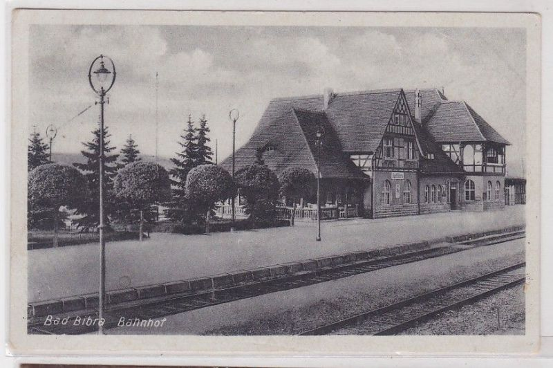 91076 Ak Bad Bibra Bahnhof 1949 0