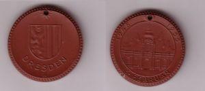 Porzellan Medaille Dresden 10. Jahrestag der Zerstörung 1945-1955 (115793)