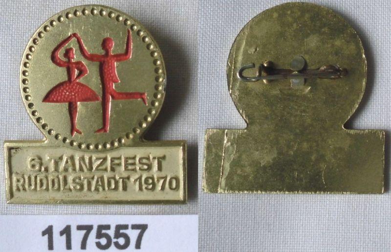 DDR Abzeichen 6.Tanzfest Rudolstadt 1970 (117557)