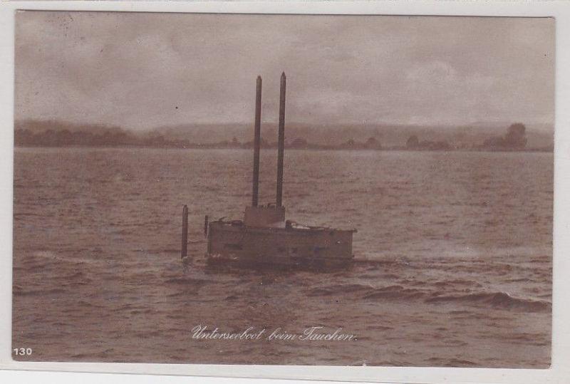 91084 Ak Unterseeboot beim Tauchen 1924 0