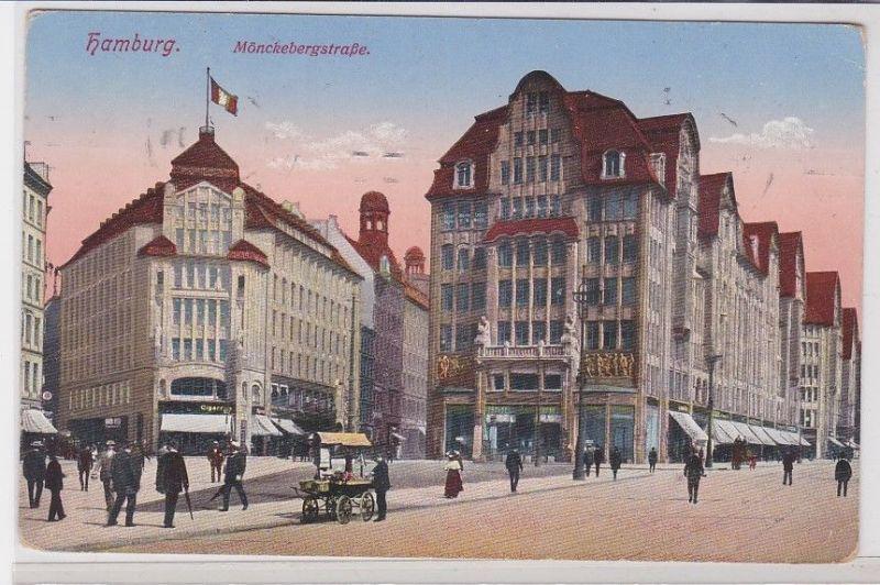 91087 Feldpost Ak Hamburg Mönckebergstrasse 1916 0