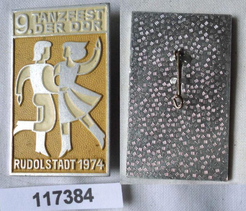 DDR Abzeichen 9.Tanzfest der DDR Rudolstadt 1974 (117384)