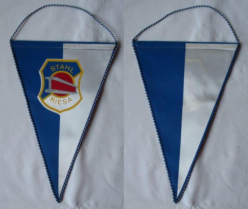 Original DDR Fußball Wimpel Stahl Riesa Oberliga (103826)