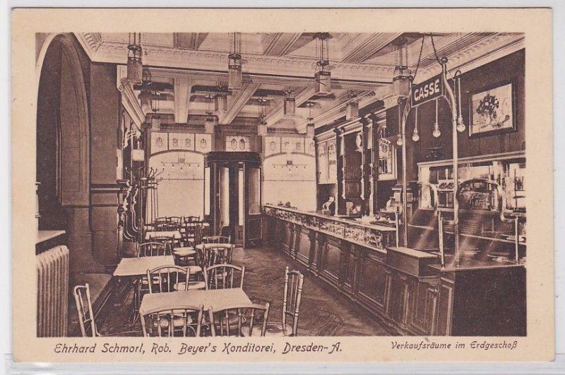 90963 Ak Dresden Altstadt Konditorei Verkaufsräume im Erdgeschoß um 1920 0