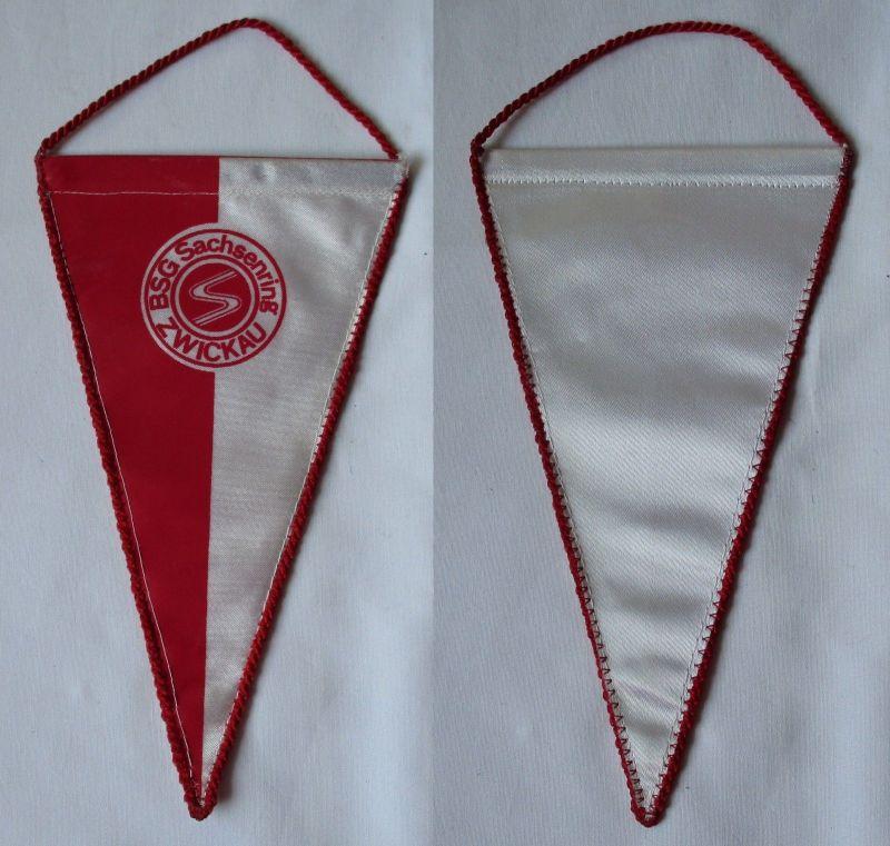 Original DDR Fußball Wimpel BSG Sachsenring Zwickau Oberliga (102005)