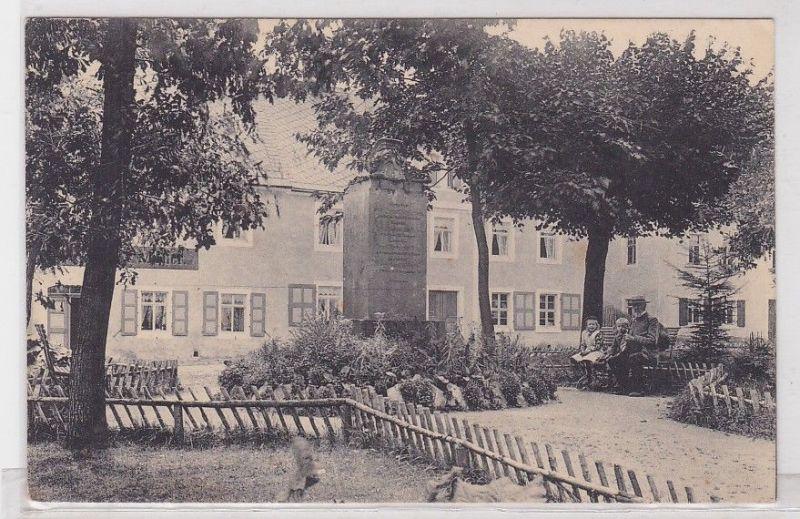 90970 Ak Sayda im Erzgebirge Marktanlagen und Kriegerdenkmal um 1920 0