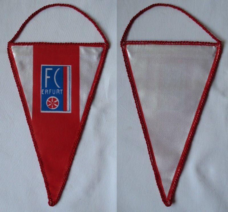 Original DDR Fußball Wimpel FC Erfurt rot weiß Oberliga (104478)