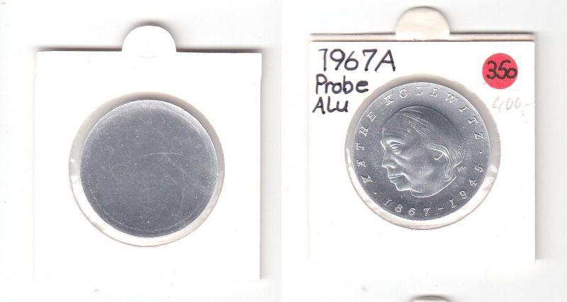 DDR Gedenk Münzen 10 Mark einseitige Alu Probe, Kollwitz 1967 (119409)