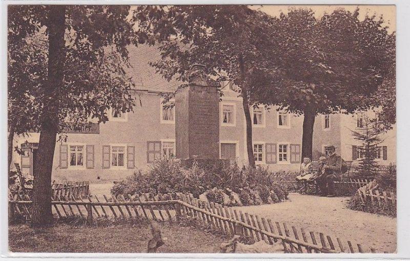 80519 Ak Sayda im Erzgebirge Marktanlagen und Kriegerdenkmal 1928