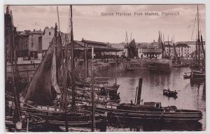 83735 Foto Ak Sutton Harbour Fish Market, Plymouth 1914