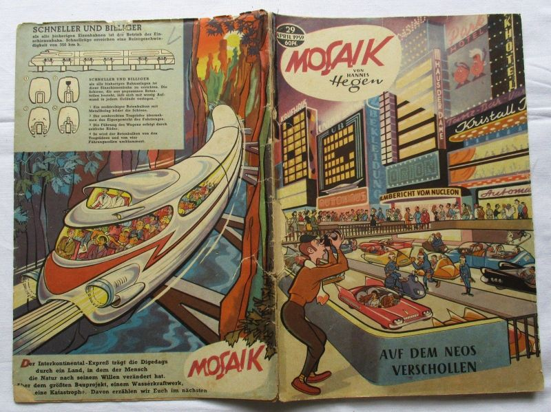 Mosaik von Hannes Hegen Digedag Nummer 29 von 1959 (124781)