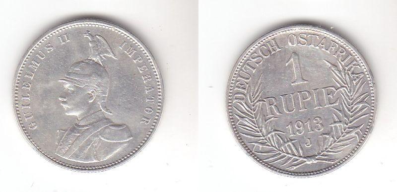 1 Rupie Silber Münze Deutsch Ost Afrika 1913 J (115071)