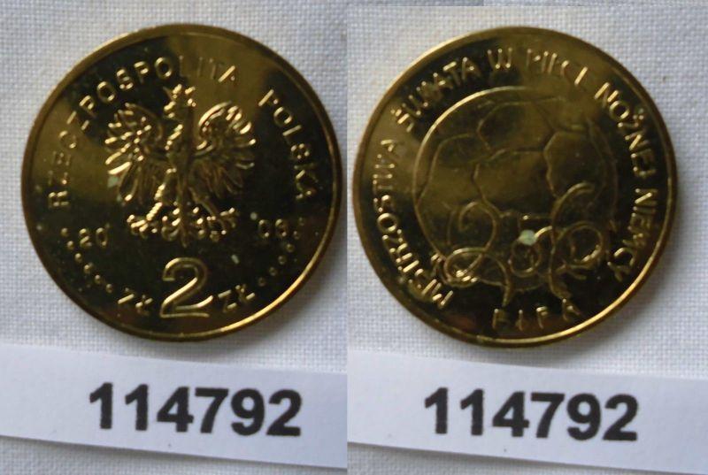 2 Zloty Messing Münze Polen Fussball Wm In Deutschland 2006 114792