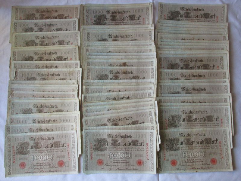 100 Banknoten zu 1000 Mark 21.April 1910 Deutsches Kaiserreich (125055)