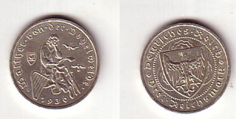 Silber Muenze 3 Mark Walter von der Vogelweide 1930 A