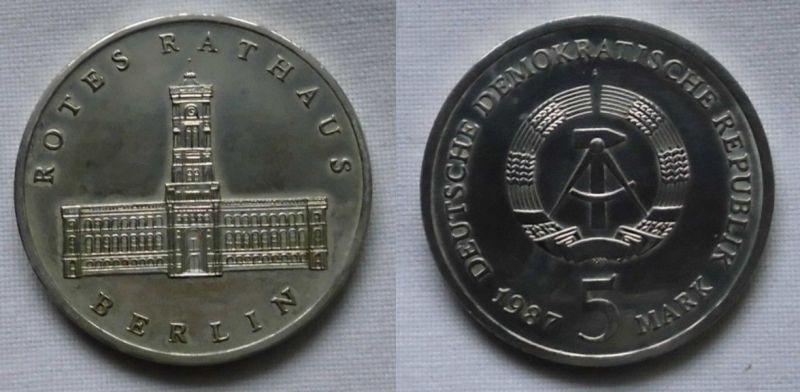 Ddr Gedenk Münze 5 Mark 750 Jahre Berlin Rotes Rathaus 1987 122794