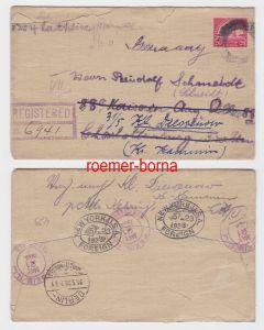 75264 seltener Einschreiben Brief USA mit 20 Cents Golden Gate Marke 1928