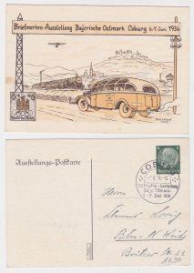 91667 Ak Ganzsache Briefmarken-Ausstellung Bayerische Ostmark Coburg 6.-7.6.1936