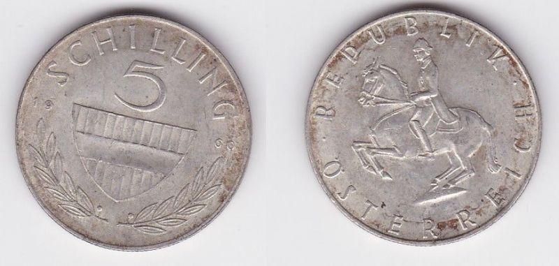 5 Schilling Silber Münze Österreich 1960 (119710)