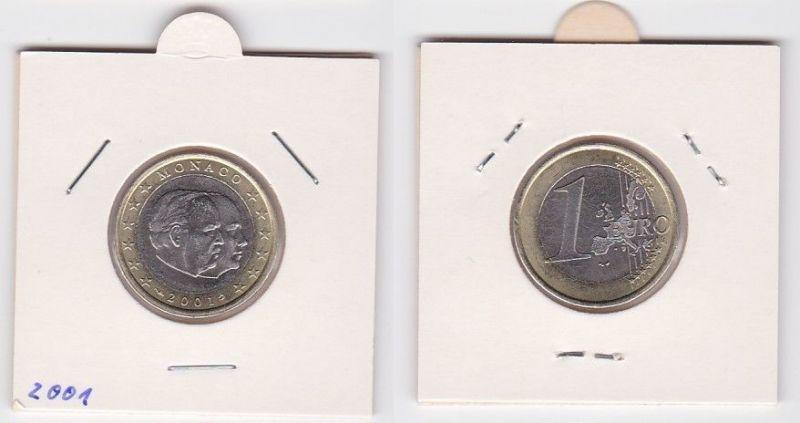 1 Euro Bi-Metall Münze Monaco 2001 Fürst Rainier III. und Prinz Albert (124734)