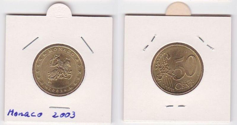 50 Cent Messing Münze Monaco 2003 Siegel der Fürstenfamilie Grimaldi (125230)