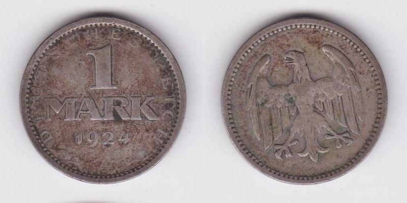 1 Reichsmark Silber Münze Weimarer Republik 1924 A (123793)
