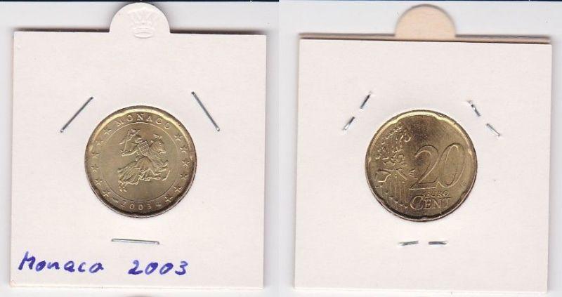 20 Cent Messing Münze Monaco 2003 Siegel der Fürstenfamilie Grimaldi (125218)