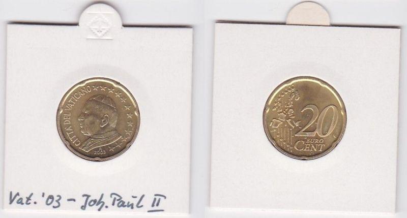 20 Cent Messing Münze Vatikan 2003 Papst Johannes Paul (125047)