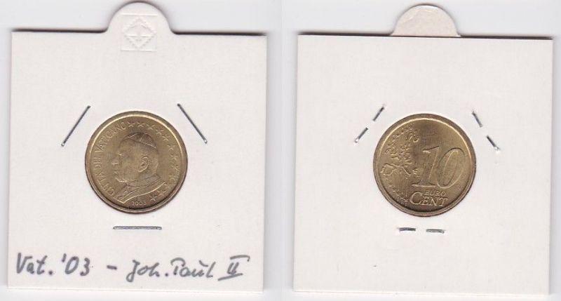 10 Cent Messing Münze Vatikan 2003 Papst Johannes Paul (125751)