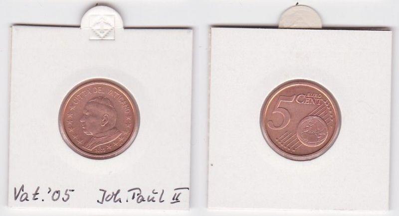 5 Cent Münze Vatikan 2005 Papst Johannes Paul (125070)