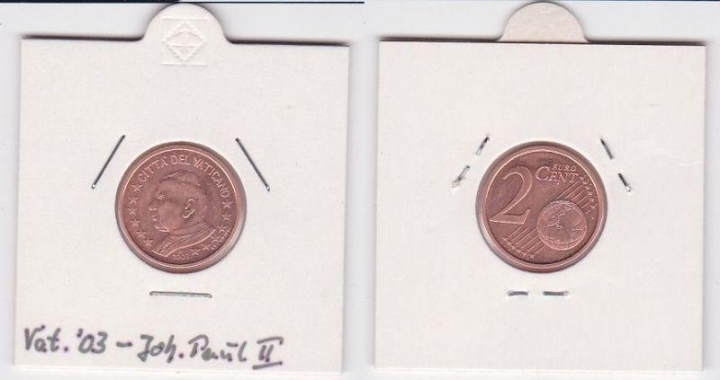 2 Cent Münze Vatikan 2003 Papst Johannes Paul (122083)