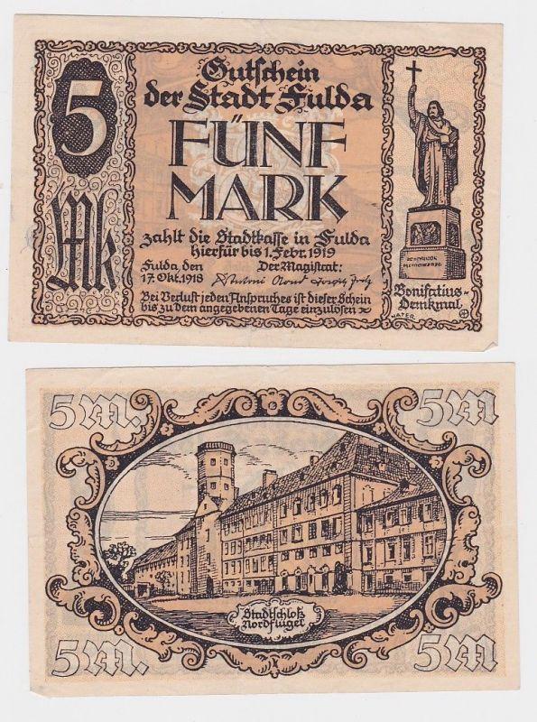 5 Mark Banknote Notgeld Stadt Fulda 17.10.1918 (111925)