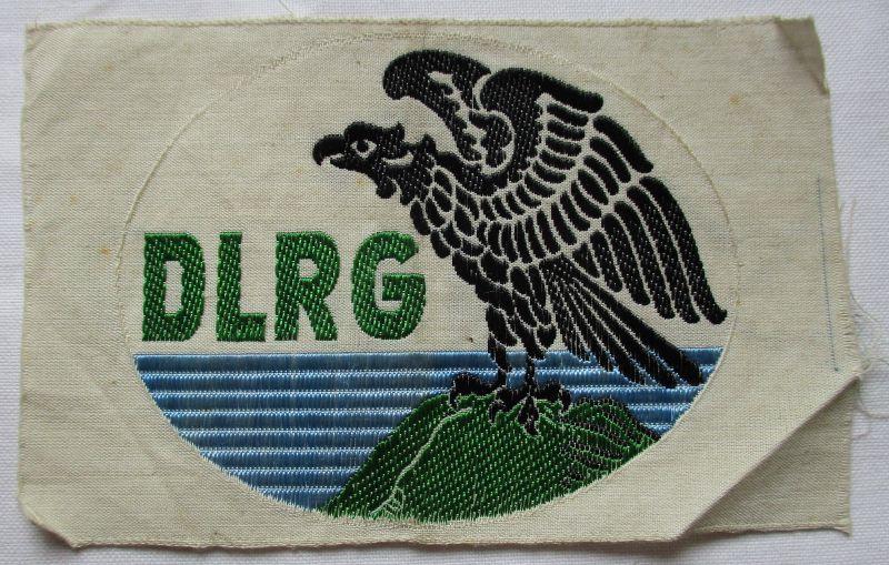 Alter Aufnäher Stoff DLRG deutsche Lebensrettungsgesellschaft (109850)
