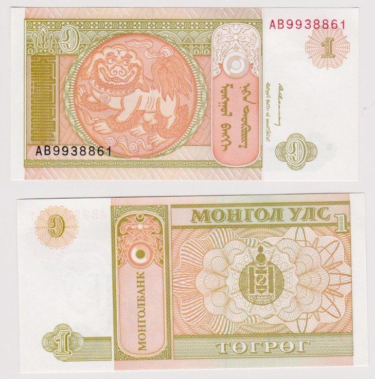 1 Togrog Banknote Mongolei kassenfrisch (120371)