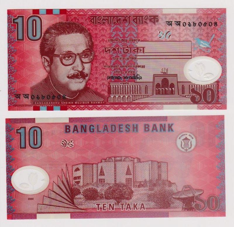10 Taka Banknote Bangladesch 2000 kassenfrisch (120725)