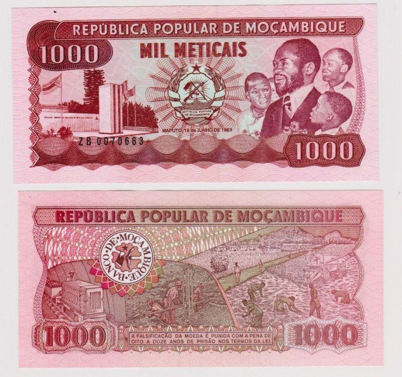 1000 Meticais Banknote Mocambique Mosambik 1983 kassenfrisch (120294)
