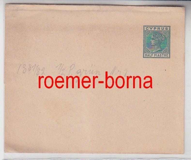 75391 seltener Ganzsachen Brief Zypern Cyprus 1/2 Piaster 1881/82