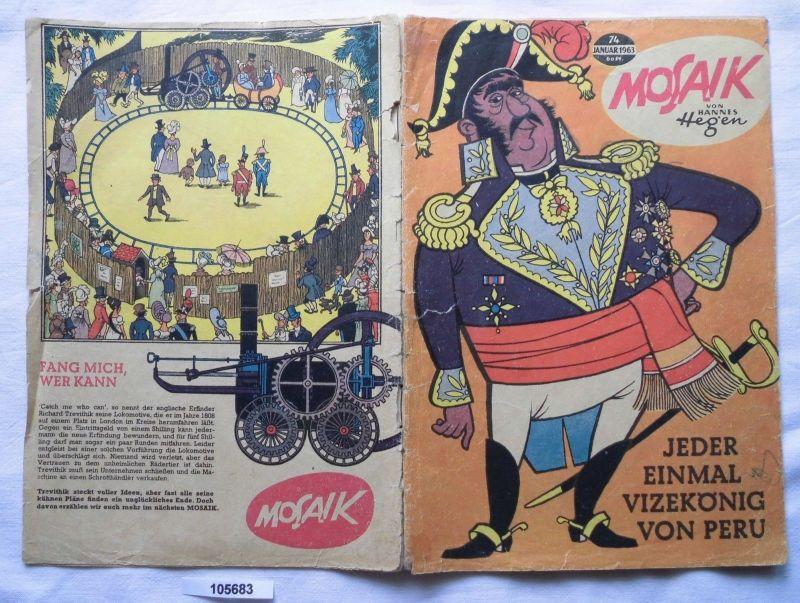 Mosaik von Hannes Hegen Digedag Nummer 74 von 1963 (105683)