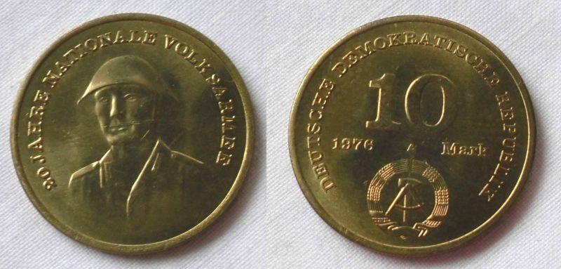 DDR Gedenk Münze 10 Mark 20 Jahre Nationale Volksarmee NVA 1976 (124212)