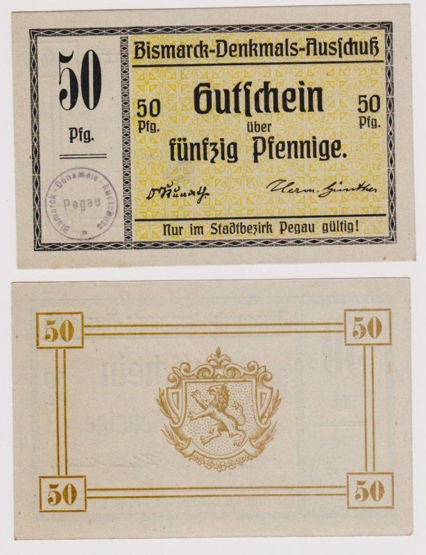 50 Pfennig Banknote Pegau Bismarck Denkmal Ausschuss ohne Datum (120732)