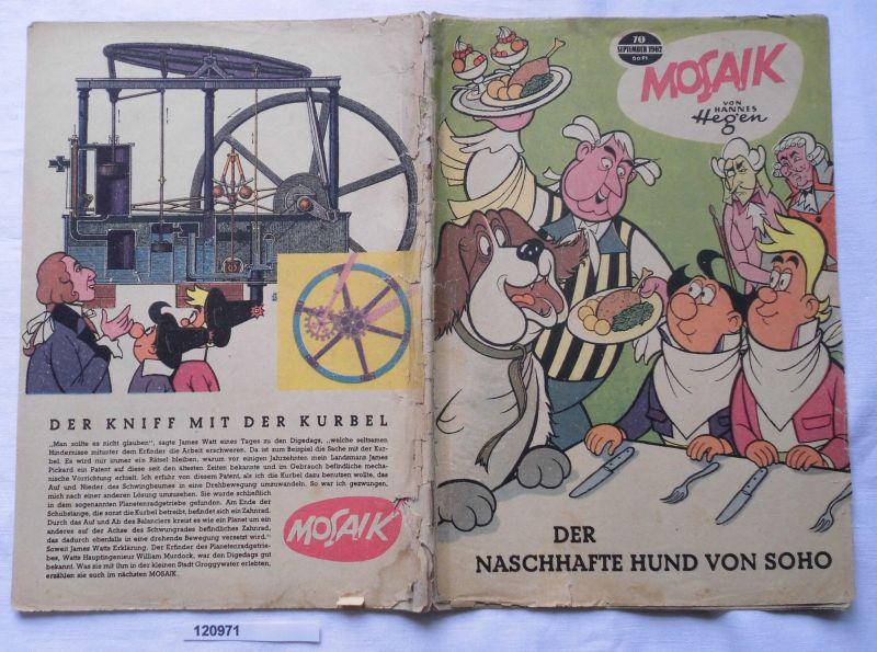 Mosaik von Hannes Hegen Digedag Nummer 70 von 1962 (120971)