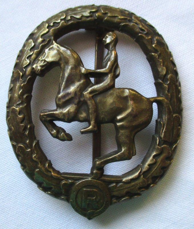 Deutsches Reiterabzeichen 3.Klasse in Bronze mit Hersteller (124655)