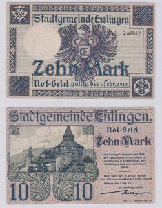 10 Mark Banknote Notgeld Stadtgemeinde Eßlingen 1.11.1918 (126231)