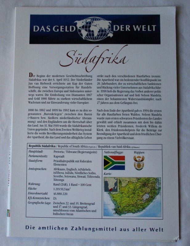 KMS Das Geld der Welt Südafrika 5 Cent - 10 Rand (126063)