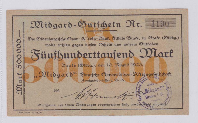 500000 Mark Banknote Brake (Oldenburg)