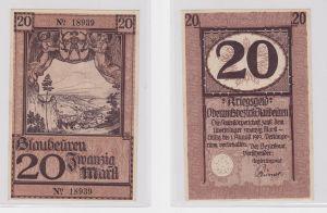 20 Mark Banknote Amtskörperschaft Blaubeuren 1.8.1919 (126371)