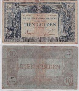 Seltene 10 Gulden Banknote Niederlande 1.Oktober 1922 (104823)