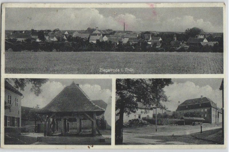 92600 AK Ziegelroda in Thüringen - verschiedene Ortsansichten & Panorama