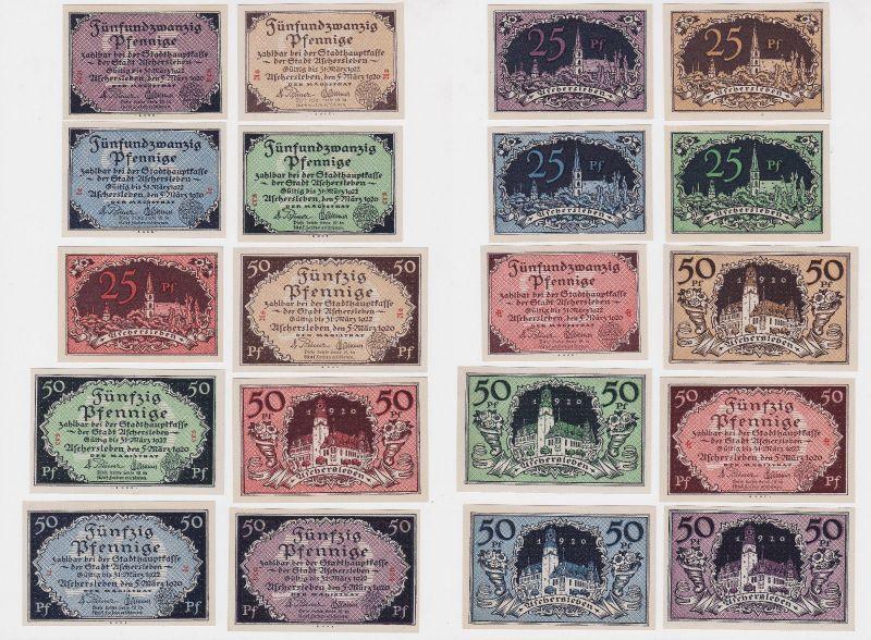 10 Banknoten Notgeld Stadt Aschersleben 5.3.1920 (126397)