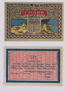 1 Mark Banknote Landesbürgerrat Altona Elbe 15.Februar 1922 (126240)